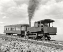 Pikes Peak, Co, ca1900-Summit, cog wheel train, Manitou and Pike's Peak Railway
